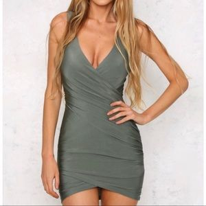Hello Molly Olive Green Dress